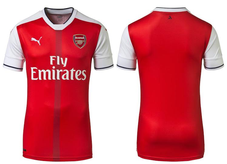 áo arsenal đỏ sân nhà 2017